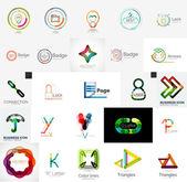 Set of branding company logo elements — Stock Vector