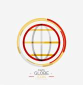 World globe logo stamp — Stock Vector