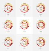 Minimal thin line design web icon set — Stockvektor