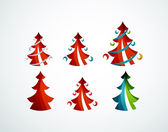 Christmas tree geometric design — Stock Vector