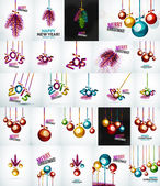 Set of Christmas baubles, New Year Concepts — ストックベクタ