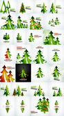 Christmas tree geometric design — Vector de stock
