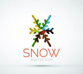 Christmas snowflake company logo design — Stock Vector