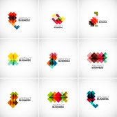 Company vector logo branding elements — Stock Vector