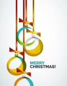 Merry Christmas modern card - abstract baubles — Stockvector