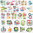 Mega collection of various web infographics — Stock Vector #63192029