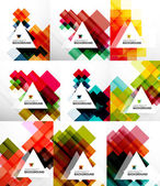 Set of square abstract backgrounds — Stockvector