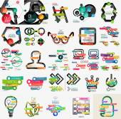 Mega collection of various web infographics — Stock Vector