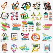 Mega collection of various web infographics — Stock Vector #63215407