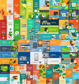 Mega collection of flat web infographic concepts — Stock Vector