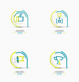 Award icon set, Logo collection — Stock Vector