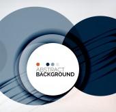 Color circles composition — Stock Vector