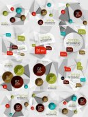 Set of vector business abstract infographics templates — Wektor stockowy