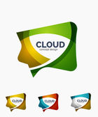 Modern cloud logo set — Stock Vector
