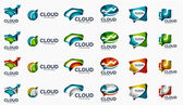 Modern cloud logo set — Stockvector