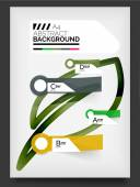 Flyer, modelo de design de brochura — Vetor de Stock