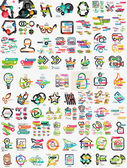 Huge mega set of infographic templates — Stock Vector