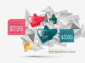 Vector fresh business abstract infographic — Stock Vector