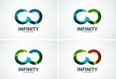 Infinity company logo icon set — Stock Vector