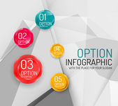 Business geometric option steps infographics — Stock Vector