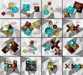 Set of business geometric option steps infographics — Stock Vector