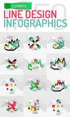 набор современной абстрактной деловой геометрической инфографики — Cтоковый вектор