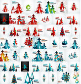 Large mega collection of Christmas cards and elements — Stock Vector