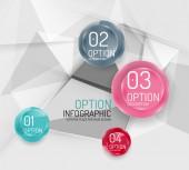 деловая геометрическая инфографика шагов выбора — Cтоковый вектор