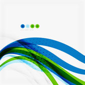 Green blue wave lines — Vector de stock