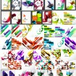 Set of abstract backgrounds — Stock Vector #65582167
