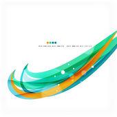 Blue, orange, red swirl wave lines. Light design — Cтоковый вектор