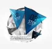 Modern polygonal origami paper infographics — ストックベクタ