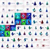 Mega collection of Christmas and winter design elements — Stock Vector