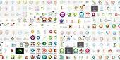 Vector abstract company logos mega collection — Stock Vector
