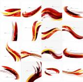 Red orange bright feather lines concept — Vettoriale Stock