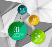 Business geometric option steps infographics — Vettoriale Stock