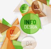 Unternehmen modernen bunten geometrischen infografiken — Stockvektor