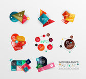 Set of geometric abstract shape infographic layouts — ストックベクタ