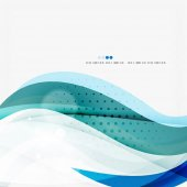 Blue business corporate wave line background — Vettoriale Stock