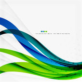 Green blue wave lines — Stock Vector