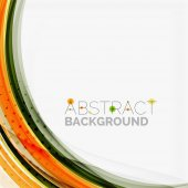 Orange and green wave line design, nature eco concept — Stock Vector