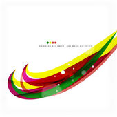 Rainbow bright light air lines background — Stock Vector