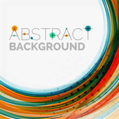 Blue and orange color line abstract background — Stock Vector