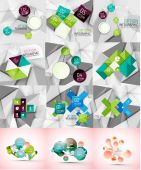 Set of paper graphic infographic modern template — Stockvektor