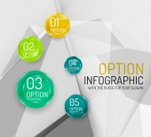 Business geometric option steps infographics — Stock Vector