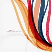 Rot und orange farbige linien zusammensetzung — Stockvektor