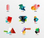 Blank geometric layouts — ストックベクタ