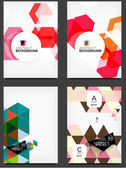 Set of geometric abstract backgrounds — Stock Vector