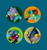 Set of flat design circle infographic icons — Stockvektor