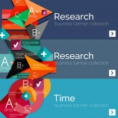 Düz tasarım vektör Infographic afiş geometrik infographics ile — Stok Vektör